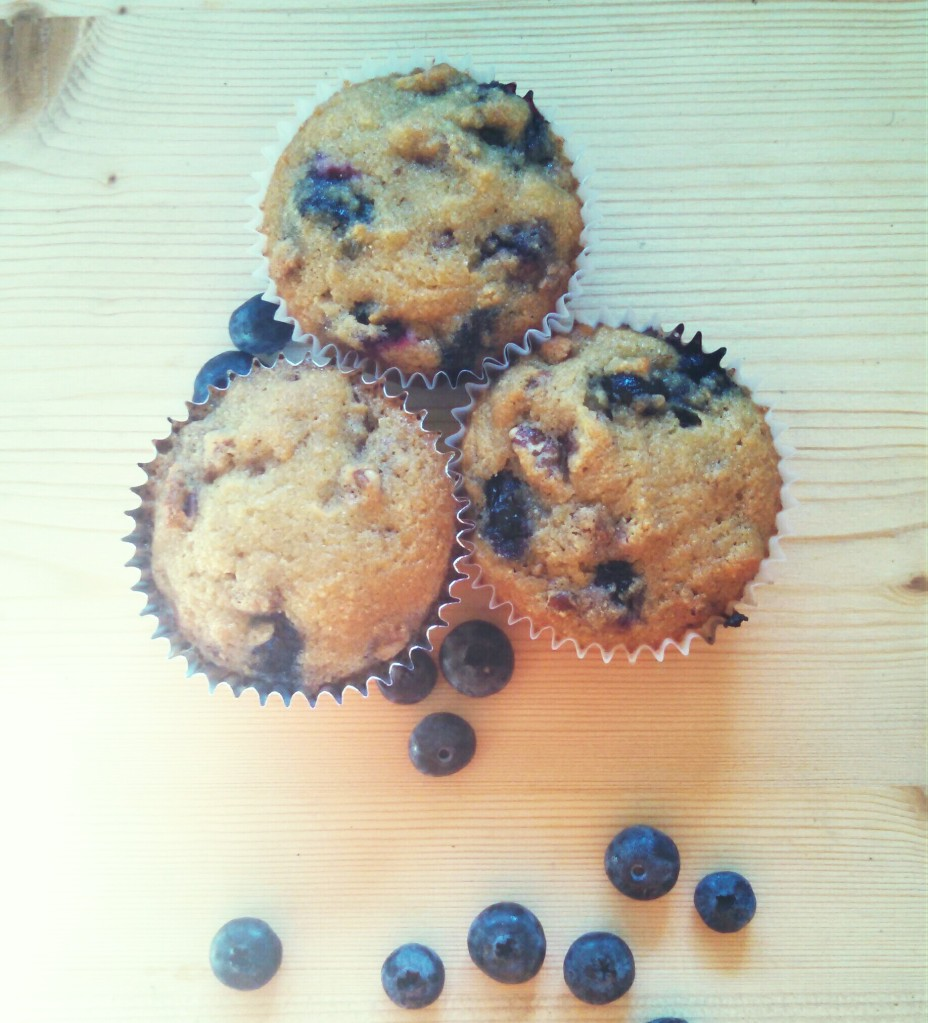Muffins and berries