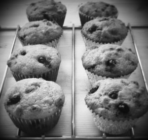 Muffins black and white