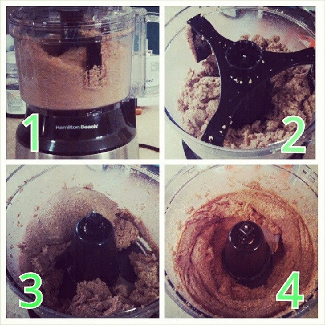 Stages of Almond Butter