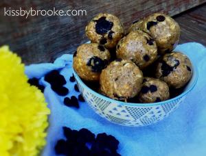Protein Choco Blueberry Energy Balls