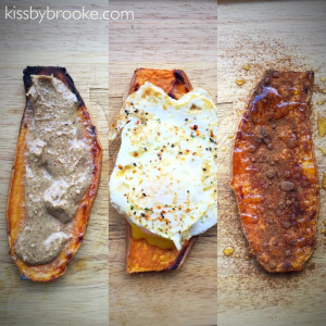 Sweet Potato Toast 3 Ways